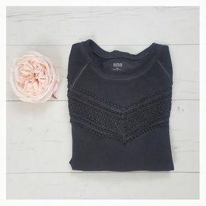 Crochet Accent Sweatshirt NWT